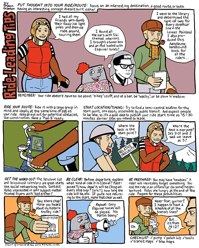 Comic with ride tips